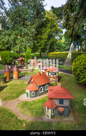 A model of a Tudor Village by Edgar Wilson was made from a cement model in 1948, and stands in Fitzroy Gardens, - Stock Photo