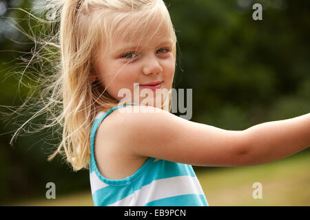 Portrait of Young Girl Outdoors - Stock Photo