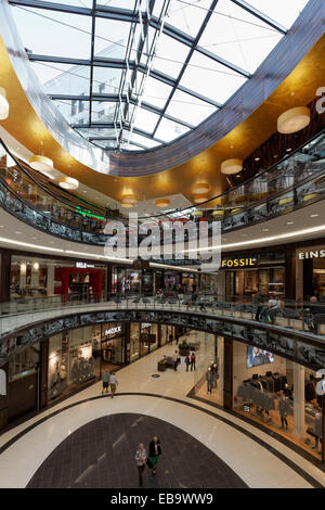 Mall of Berlin, Leipziger Platz, Berlin, Germany - Stock Photo