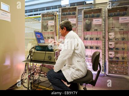 adult Basque Country Biscay cabinet certificate certification color image computer counter device electric electricity - Stock Photo
