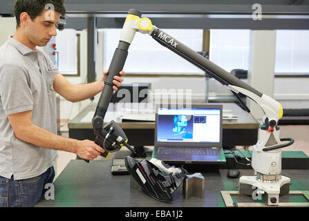 3-D adult applied arm Basque Country color image computer contactless coordinate device dimensional Elgoibar Europe - Stock Photo