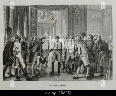 France, History, 19th Century - Napoleon at Dresden, august 1813 - Stock Photo