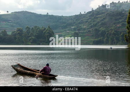Lake Bunyonyi. - Stock Photo