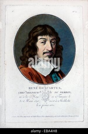 René Descartes (1596-1650) French mathematician scientist and philosopher - Stock Photo