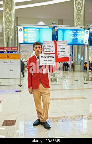 Dubai airport Dubai City Dubai United Arab Emirates Middle East. - Stock Photo