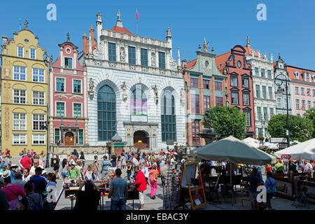 Dlugi Targ, Long Market, Gdansk, Pomeranian Voivodeship, Poland - Stock Photo