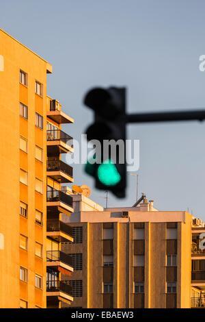 Semaphore, Valencia, Spain - Stock Photo