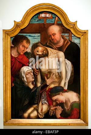 Descent from the Cross 1500 Anonymous Flemish Spanish School From a model of Rogier van der Weyden 1399 1464   Rogier - Stock Photo