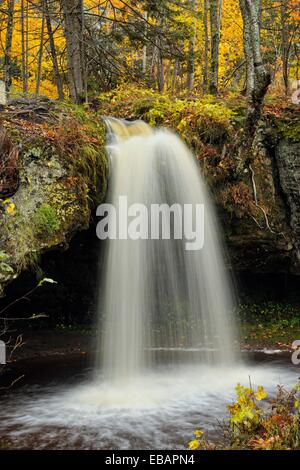 Scott Falls in autumn, Au Train, Michigan, USA. - Stock Photo