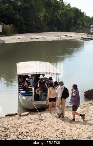 Guluyambi river cruise on the East Alligator River in Kakadu National Park  Northern Territory Australia - Stock Photo