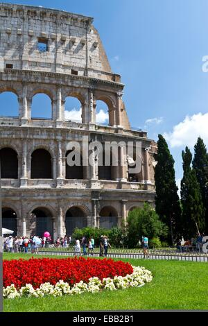 The Roman Coliseum in Rome, Italy - Stock Photo