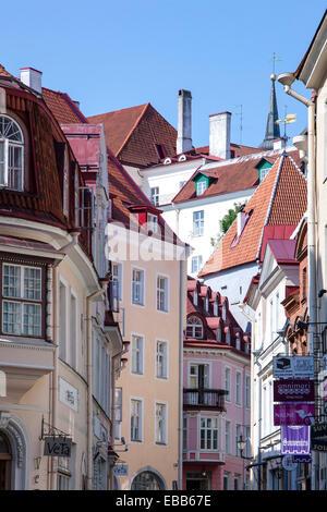 Estonia Tallinn historic old town - Stock Photo