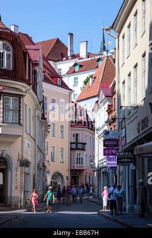 Tallinn Estonia Tallinn old town street - Stock Photo