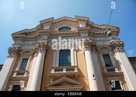 Basilica dei Santi Ambrogio e Carlo al Corso ( San Carlo al Corso ) Rome Italy. - Stock Photo