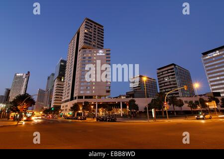 Diagonal Mar hotels shopping centre and business centers. Barcelona. - Stock Photo
