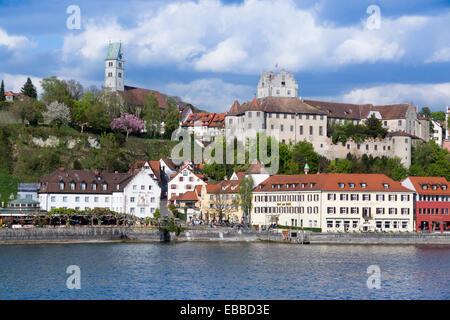 Burg Meersburg, Old Castle,Meersburg, Lake Constance, Baden-Wuerttemberg, Germany, Europe - Stock Photo