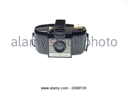 A Kodak 'Brownie 127' camera from the 1950's. - Stock Photo