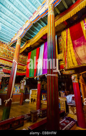 Samstanling monastery, Nubra Valley, Ladakh, Jammu and Kashmir State, India. - Stock Photo