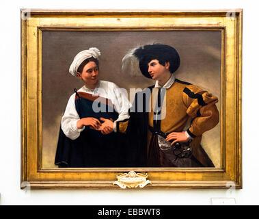 Caravaggio (Michelangelo Merisi, Milano 1571 - Porto Ercole 1610) La Buona Ventura (The Fortune Teller) 1595 ca. - Stock Photo