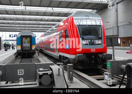 Bunk Wagon Deutsche Bahn in Munich Central - Stock Photo