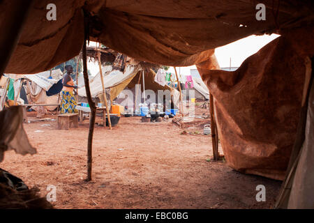 Mpoko camp for internally displaced persons, Bangui Central African Republic - Stock Photo