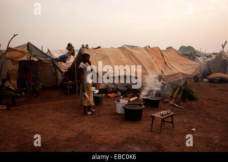 Mpoko camp for internally displaced persons, Bangui, Central African Republic - Stock Photo