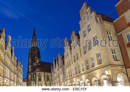 St. Lamberti Church Muenster, Westfalia Germany. - Stock Photo