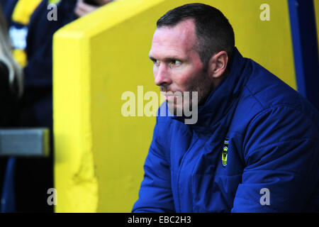 Kassam Stadium, Oxford Job name: sport Notes: FOOTBALL: Oxford United v AFC Wimbledon Pictured here is Oxford manager - Stock Photo