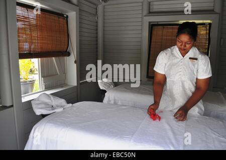Mauritius, Palmar, spa at the Ambre Hotel - Stock Photo