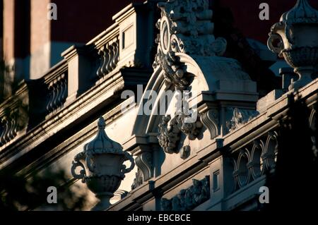 period house gable, East Melbourne, Victoria, Australia - Stock Photo