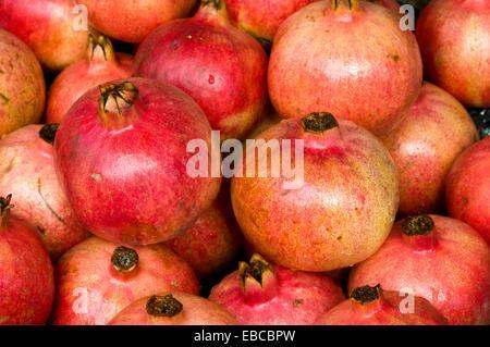 pomegranates, port louis, mauritius - Stock Photo