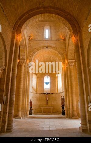 San Martin church, indoor view. Fromista, Palencia province, Castilla Leon, Spain. - Stock Photo