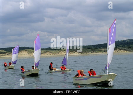 ... Optimist Sailing Dinghies, Hardelot, Pas De Calais Department, Nord Pas