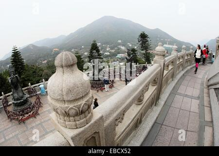 Tian Tan Buddha or Big Buddha statue, Po Lin Monastery, Hong Kong, China, Asia - Stock Photo