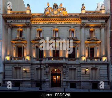 Real Academia Nacional de Medicina, Madrid, Spain - Stock Photo