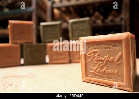 Traditional soap factory, Salon de Provence, Bouches du Rhône, 13, PACA, France. - Stock Photo