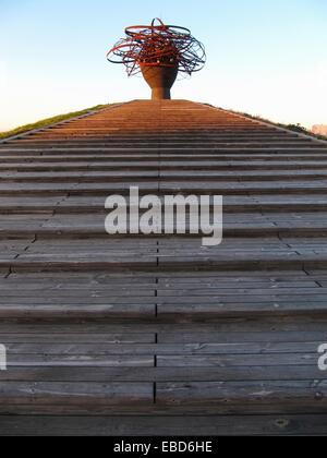 Parque lineal del Manzanares, Madrid, Spain. - Stock Photo