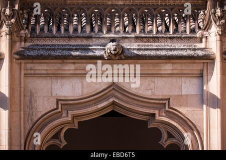 Detail of the cloister of the Monastery of San Juan de los Reyes, Toledo, Spain - Stock Photo