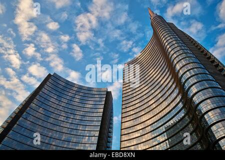 The Unicredit Tower is a skyscraper in Milan, Italy With a height of 231 metres 758 ft, it is the tallest building - Stock Photo