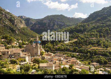 Saint Bartomeu church, Valldemossa, Mallorca, Balearic Islands, Spain - Stock Photo