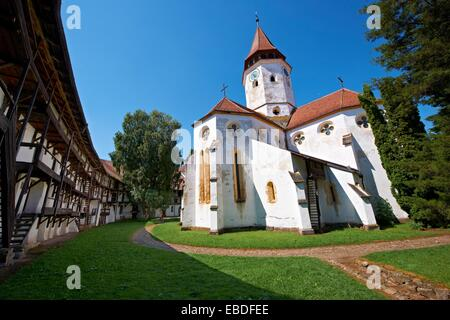 Prejmer  German: Tartlau Fortified Church, one of the best preserved of its kind in Eastern Europe was built by - Stock Photo