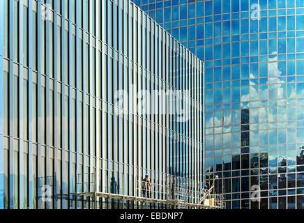 modernization works, buildings of WIPO - World Intellectual Property Organization, Geneva, Switzerland - Stock Photo