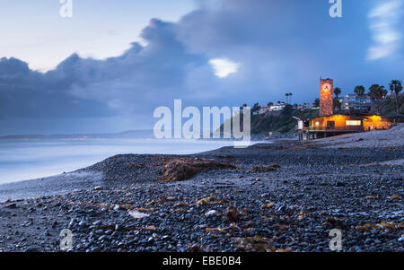 San Clemente Marine Safety Clock Tower - Stock Photo