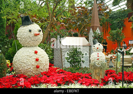Singapore. 29th November, 2014. The Flower Dome becomes a winter wonderland at Gardens by the Bay, Singapore Credit: - Stock Photo
