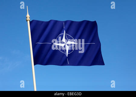 Flag of the North Atlantic Treaty Organization - NATO - Stock Photo