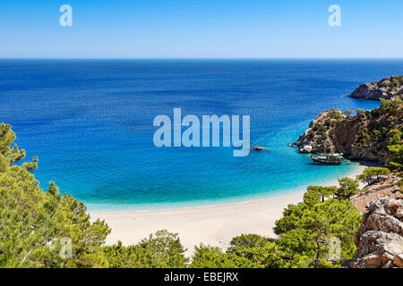 Apella is the most famous beach of Karpathos, Greece - Stock Photo