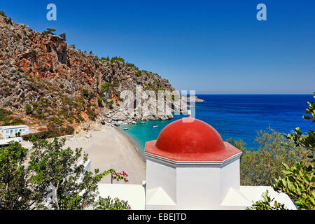 Kyra Panagia is probably the most publicized beach of Karpathos, Greece - Stock Photo