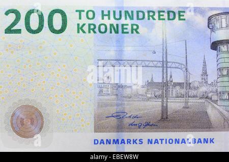 Danish Kroner, National Currency of Denmark - Stock Photo