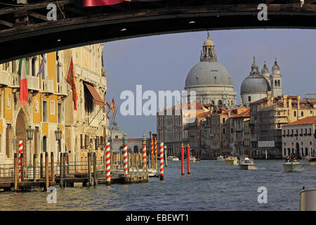 Venice Italy Grand Canal architecture from Academia Bridge - Stock Photo