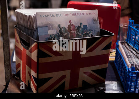 London, UK. 29th November, 2014. Albums by Graham Dee, on sale to lovers of vinyl music at the Independent Label - Stock Photo